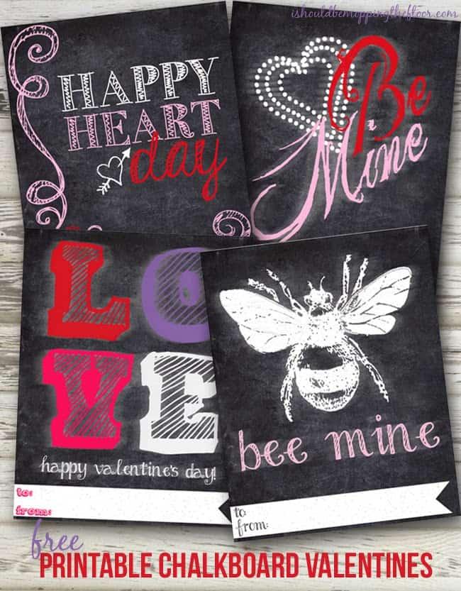 printable chalkboard valentines