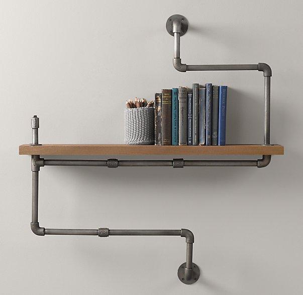 DIY Concrete Industrial Pipe Shelf : Craft Room : Part 9