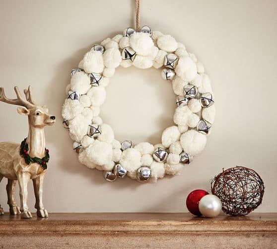 white-pom-silver-bell-wreath-pottery-barn