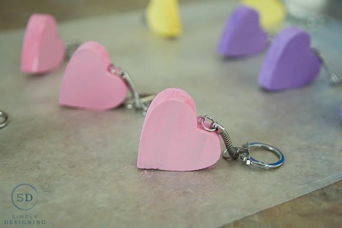Conversation Heart Key Chain