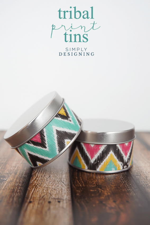 Tribal Print Tins - a fun and simple craft