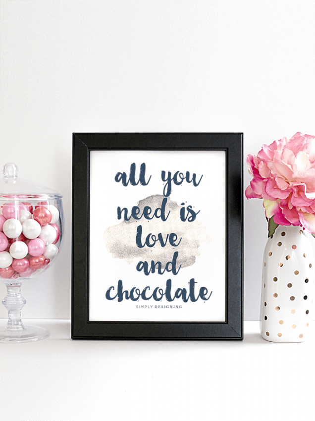all you need is love and chocolate printable