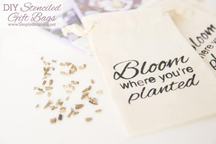 bloom where youre planted bags